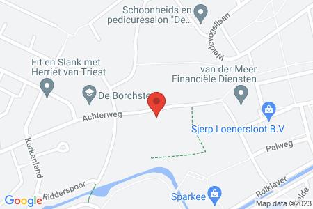 Kaart behorende bij: Achterweg 7, 8081 RV Elburg