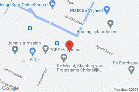 Kaart behorende bij: Klokbekerweg 77, 8081 JZ Elburg