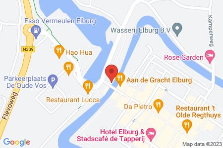Kaart behorende bij: Drank- en Horecavergunning en Exploitatie/terras vergunning Vischpoort B.V.