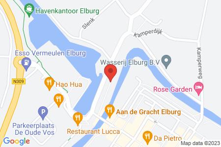 Kaart behorende bij: Termijnverlenging Havenkade 31, 8081 GR Elburg