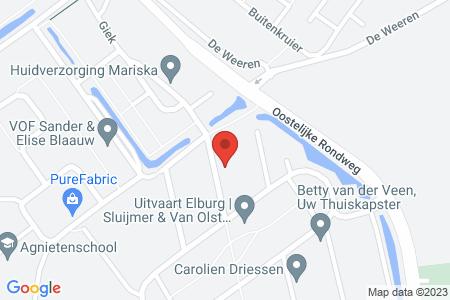 Kaart behorende bij: Koperwiek 12, 8081 ZP Elburg