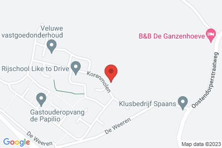Kaart behorende bij: Termijnverlenging Korenmolen kavel 216, Elburg, kadastraal bekend gemeente Elburg, sectie E, nummer 926