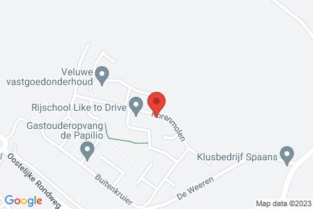 Kaart behorende bij: Korenmolen 32, 8081 LG Elburg