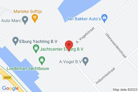 Kaart behorende bij: Termijnverlenging A. Vogelstraat 15, 8081 HD Elburg