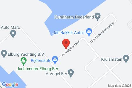 Kaart behorende bij: A. Vogelstraat, Elburg, kadastraal bekend gemeente Elburg, sectie A, nummers 4403, 4405 en 4452