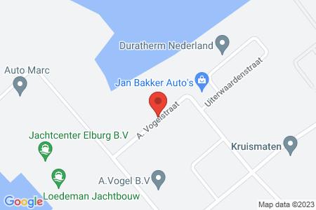 Kaart behorende bij: A. Vogelstraat, Elburg, kadastraal bekend gemeente Elburg, sectie A, nummer 4455