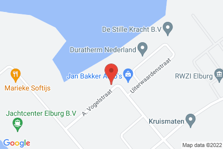 Kaart behorende bij: A. Vogelstraat 8, 8081 HD Elburg