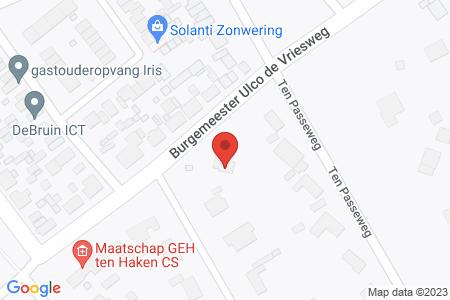 Kaart behorende bij: Burgemeester Ulco de Vriesweg 5, 8084 AP 't Harde
