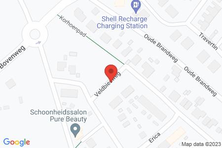 Kaart behorende bij: Veldbiesweg 12, 8084 RD 't Harde