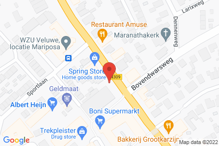 Kaart behorende bij: Centrumplein 2 t/m 46, 8084 AZ 't Harde