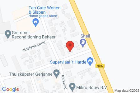 Kaart behorende bij: Wolkamerweg 4, 8084 GD 't Harde