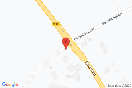 Kaart behorende bij: Bovenweg 2A, 8084 PB 't Harde