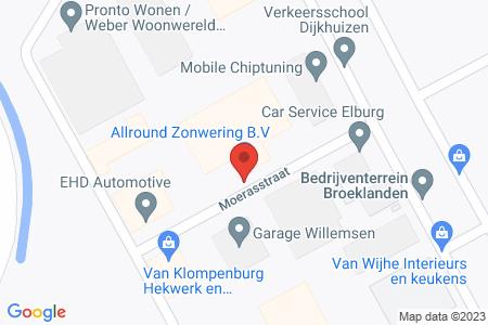 Kaart behorende bij: Moerasstraat 5, 8082 AJ Elburg