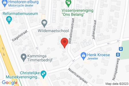 Kaart behorende bij: Wilhelminastraat 1, 8081 AS Elburg