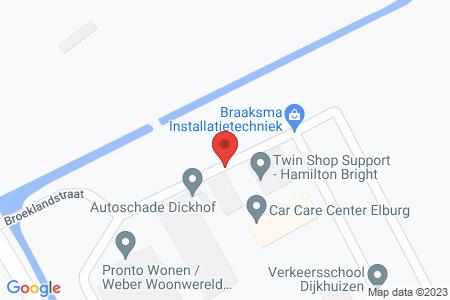 Kaart behorende bij: Broeklandstraat, Elburg, kadastraal bekend gemeente Elburg, sectie E, nummer 365
