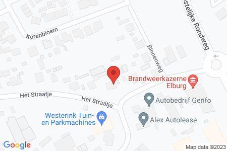 Kaart behorende bij: Het Straatje 29, 8081 RM Elburg - Termijnverlenging