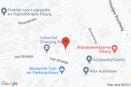 Kaart behorende bij: Het Straatje 29, 8081 RM Elburg
