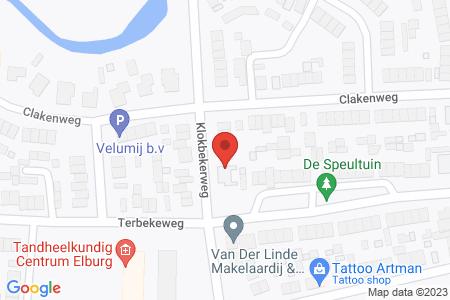 Kaart behorende bij: Klokbekerweg 22, 8081 LJ Elburg - Sloopmelding