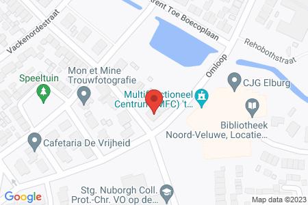 Kaart behorende bij: Lange Wijden 29, 8081 VS Elburg