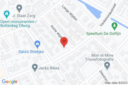 Kaart behorende bij: Korte Wijden 24, 8081 VR Elburg - Sloopmelding