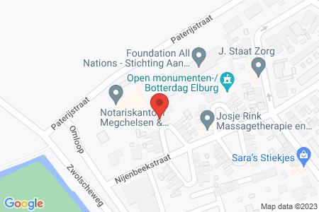 Kaart behorende bij: Nijenbeekstraat 9, 8081 TC Elburg - Sloopmelding