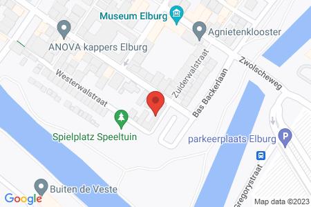 Kaart behorende bij: Zuiderwalstraat 1, 8081 CD Elburg