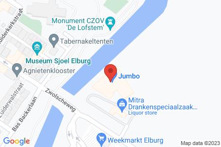 Kaart behorende bij: Zwolscheweg 1, 8081 CG Elburg