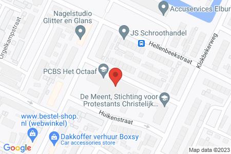 Kaart behorende bij: Evenementenvergunning op grond van artikel 2:25 APV gemeente Elburg - P.C.B.S. Het Octaaf
