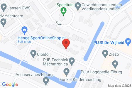 Kaart behorende bij: Botterstraat ter hoogte van nummer 8, Elburg, kadastraal bekend gemeente Elburg, sectie A, nummer 4390