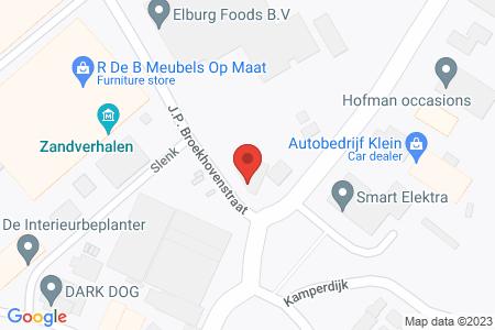 Kaart behorende bij: J.P. Broekhovenstraat 2, 8081 HC Elburg