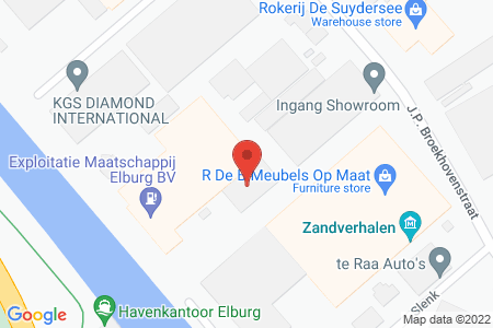 Kaart behorende bij: J.P. Broekhovenstraat 11B, 8081 HB Elburg