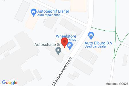 Kaart behorende bij: Stuurhuizen Auto's, Robbertsmatenstraat 7, 8081 HL Elburg