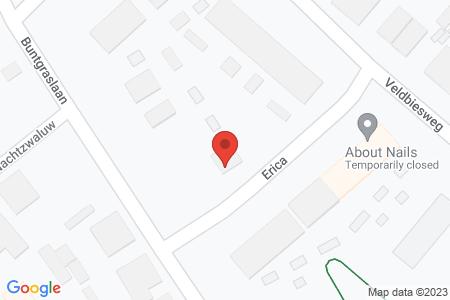 Kaart behorende bij: Verkeersbesluit aanwijzen parkeerplaats(en) ten behoeve van het opladen van elektrische voertuigen Buntgraslaan wijzigen in Erica te 't Harde