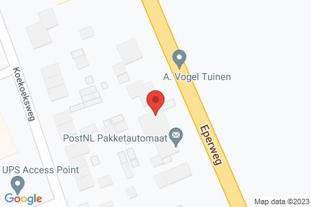 Kaart behorende bij: Eperweg 4, 8084 HG 't Harde - Sloopmelding