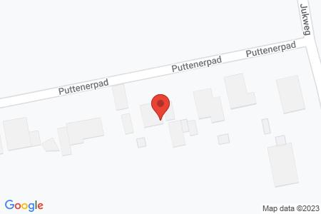Kaart behorende bij: Puttenerpad 5A, 8081 RE Elburg - Termijnverlenging