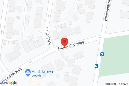 Kaart behorende bij: Nieuwstadsweg, Elburg, kadastraal bekend gemeente Elburg, sectie B, nummer 1667