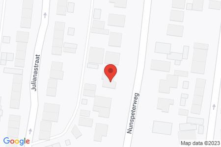 Kaart behorende bij: Nunspeterweg 18, 8081 BX Elburg - Termijnverlenging