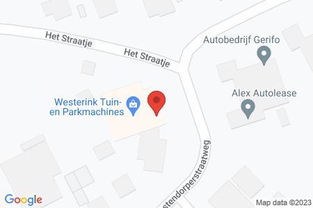 Kaart behorende bij: Oostendorperstraatweg 3B, 8081 RH Elburg