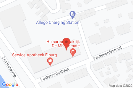 Kaart behorende bij: Vackenordestraat 3A, 8081 TG Elburg
