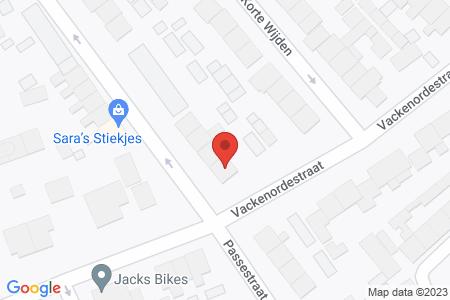 Kaart behorende bij: Passestraat 22, 8081 VK Elburg - Sloopmelding