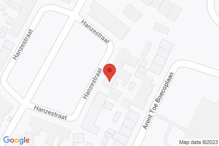 Kaart behorende bij: Hanzestraat 30, 8081 TS Elburg
