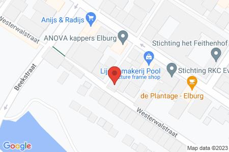 Kaart behorende bij: Bloemsteeg 12, 8081 CX Elburg