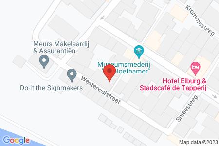 Kaart behorende bij: Westerwalstraat 30B, 8081 CC Elburg
