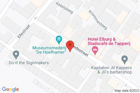 Kaart behorende bij: Smedestraat 16, 8081 EH Elburg