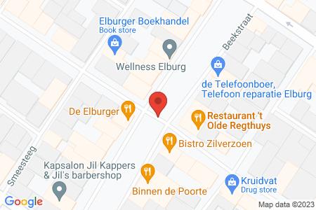 Kaart behorende bij: Jufferenstraat, Vischpoortstraat en Beekstraat, Elburg, kadastraal bekend gemeente Elburg, sectie C, nummers 1719, 1721 en 1724