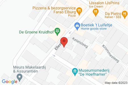 Kaart behorende bij: Ellestraat 47A, 8081 GD Elburg