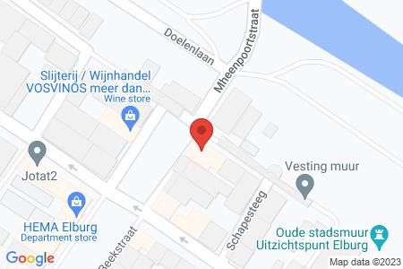 Kaart behorende bij: Beekstraat 1, 8081 EA Elburg