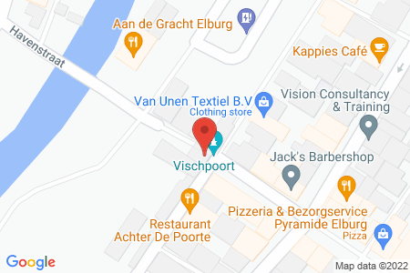 Kaart behorende bij: Vischpoortstraat 33, 8081 EP Elburg - Termijnverlenging
