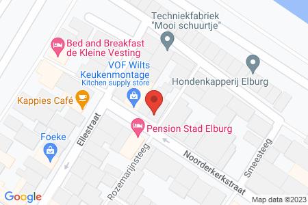Kaart behorende bij: Noorderkerkstraat 22, 8081 EV Elburg