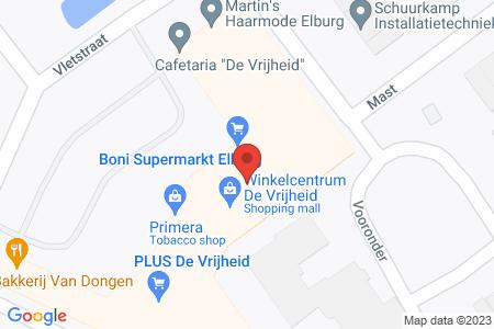 Kaart behorende bij: Boni – markten B.V., Vooronder 14, 8081 NK Elburg